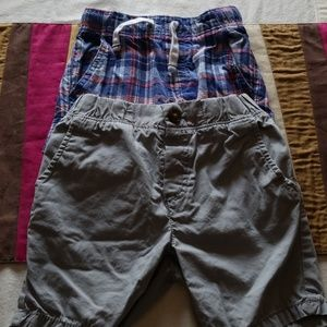 2 pairs of Boys Carter Shorts